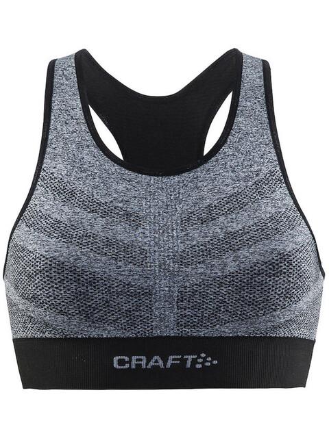 Craft Comfort Mid Impact - Brassière de sport Femme - gris/noir